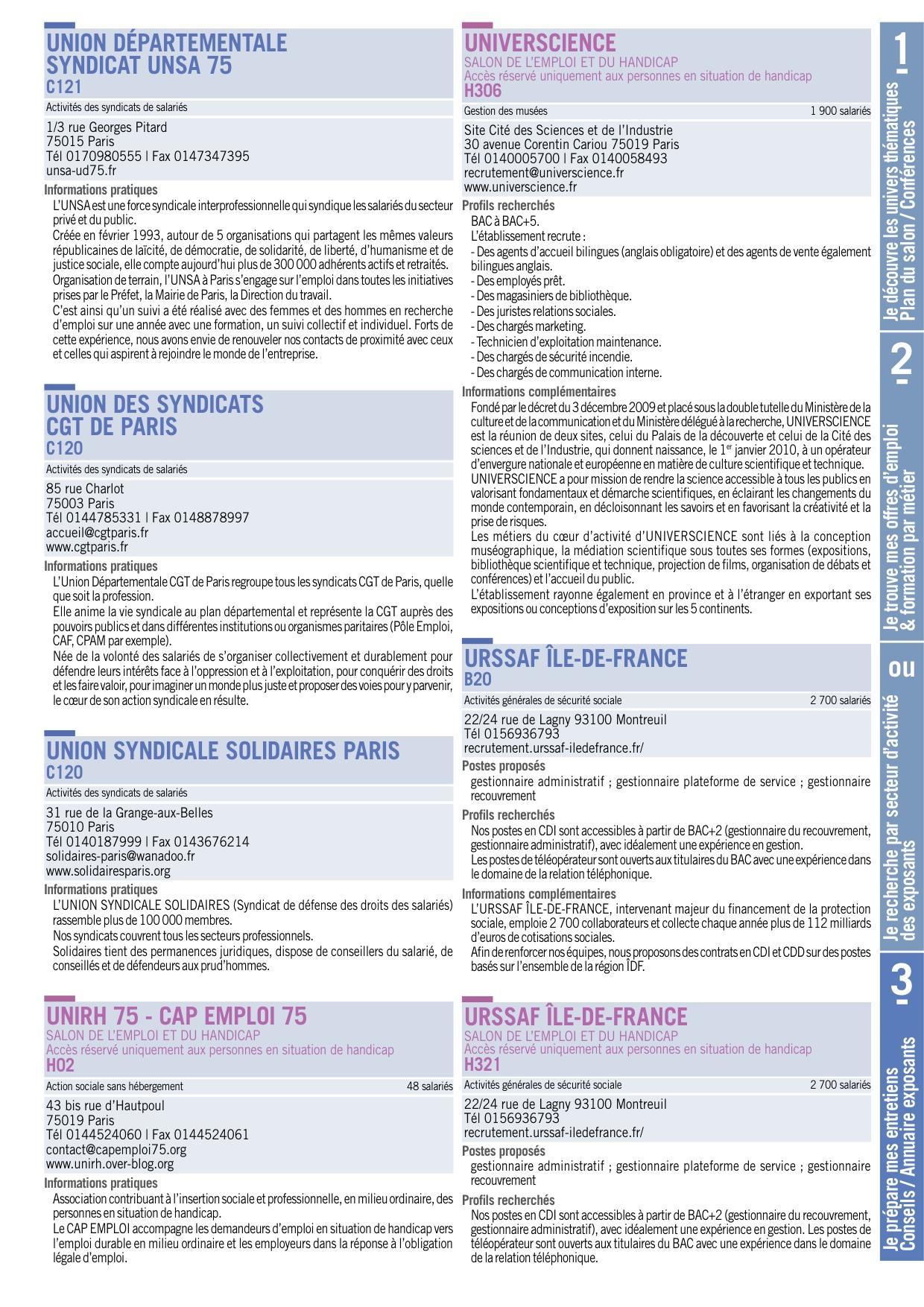 Paris Pour L Emploi 2018 Guide Pratique Du Candidat