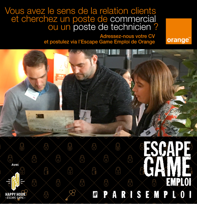 escape game emploi Orange