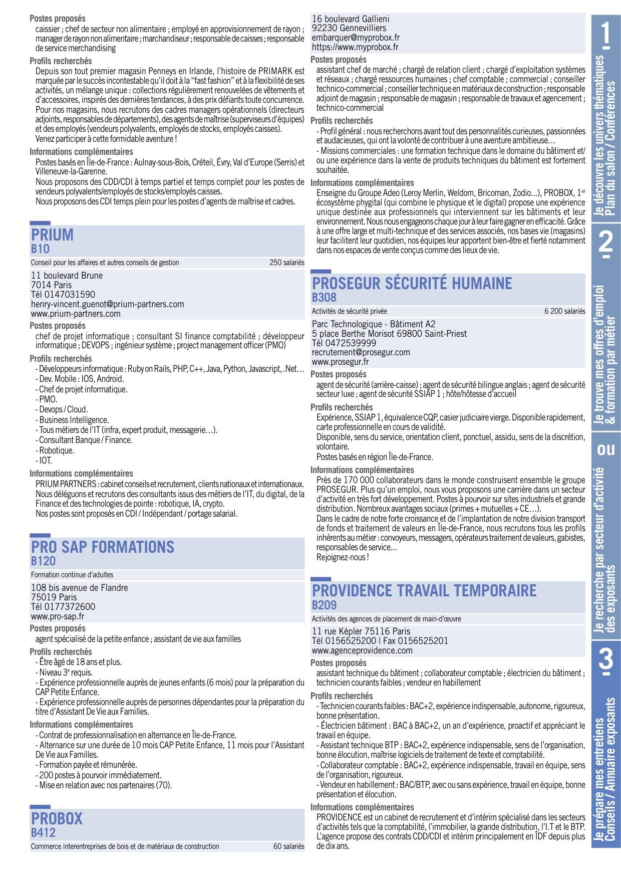 Paris Materiaux Villeneuve La Garenne paris pour l'emploi 2018 - guide pratique du candidat
